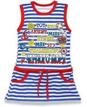 детская платье с Черного моря, детская туника тельняшка,  платье тельняшка купить в Крыму, платье тельняшка для девочек, платье тельняшка детское купить, полосатое платье для девочек купить, платье тельняшка детское оптом