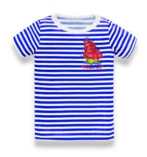 футболка тельняшка подросток, футболка тельняшка подросток купить, футболка тельняшка подросток Парусник Привет с моря вышивка, футболка тельняшка подросток оптом, футболка тельняшка подросток опт, футболка тельняшка подросток купить в Крыму, футболка тельняшка подросток купить на Черном море
