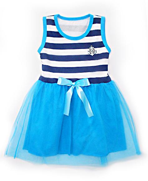 6f69dc60f04 Платье Фатин морское для девочек от 4-10 лет