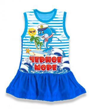 детская платье Черное море, детская туника тельняшка,  платье тельняшка купить в Крыму, платье тельняшка для девочек, платье тельняшка детское купить, полосатое платье для девочек купить, платье тельняшка детское оптом