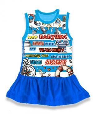детское платье Бабушка любит, детская туника тельняшка,  платье тельняшка купить в Крыму, платье тельняшка для девочек, платье тельняшка детское купить, полосатое платье для девочек купить, платье тельняшка детское оптом