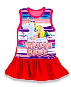 детское платье Крым Дельфин, детская туника тельняшка,  платье тельняшка купить в Крыму, платье тельняшка для девочек, платье тельняшка детское купить, полосатое платье для девочек купить, платье тельняшка детское оптом